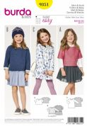 9351 Burda Pattern: Childs Shirt Dress